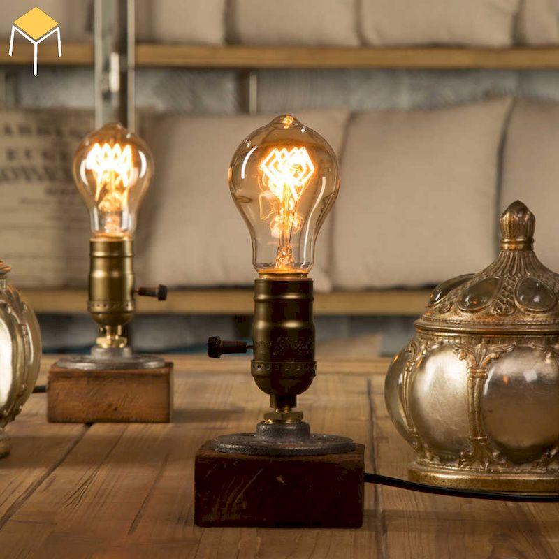 Decor phòng ngủ vintage bằng đèn trang trí