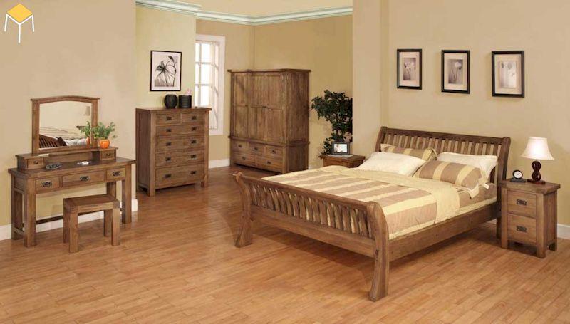 Decor phòng ngủ vintage bằng tranh treo tường