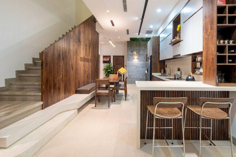 Xu hướng sử dụng quầy bar trong không gian bếp