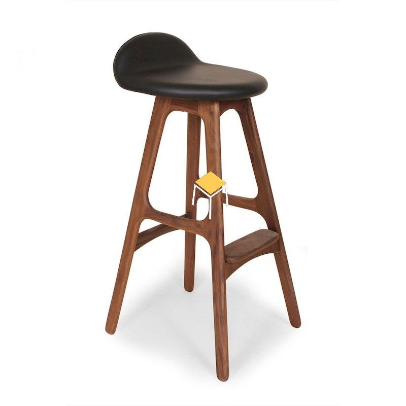 Mẫu ghế quầy bar gỗ óc chó hiện đại, giá rẻ