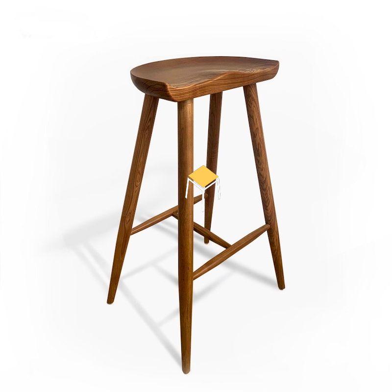 Ghế gỗ óc chó quầy bar