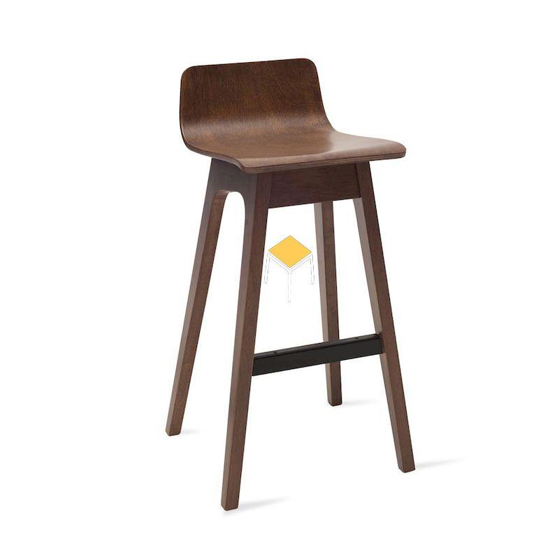 Ghế gỗ óc chó quầy bar thiết kế hiện đại