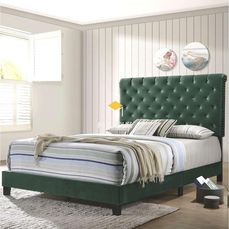 Mẫu giường ngủ bọc da sang trọng cho phòng ngủ 2021