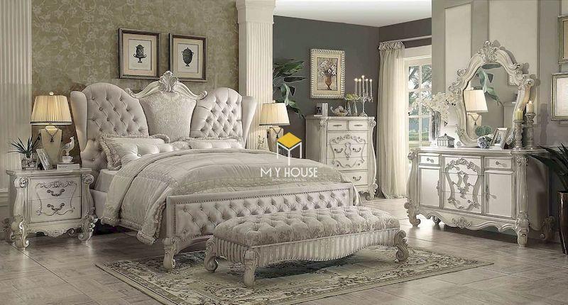giường ngủ phong cách châu Âu tân cổ điển sang trọng