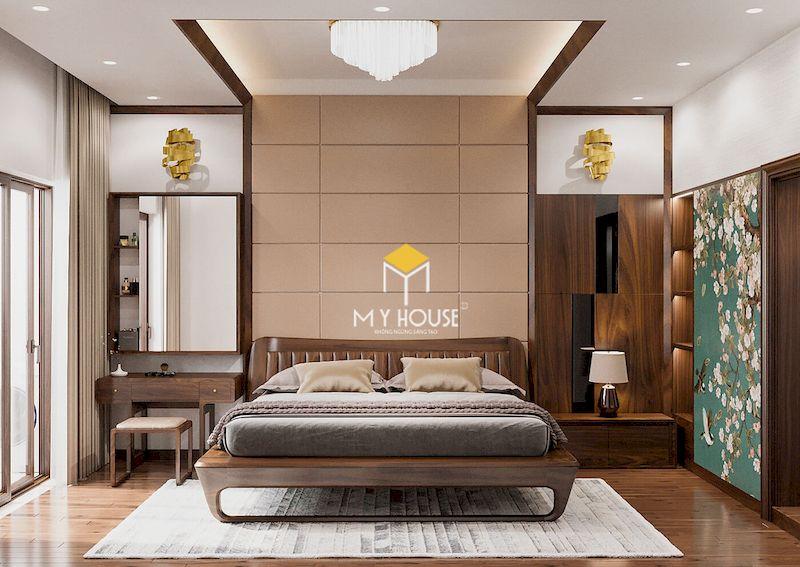 giường ngủ phong cách châu Âu gỗ óc chó