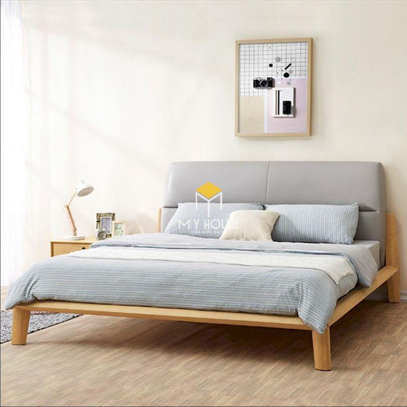 giường gỗ sồi thiết kế đơn giản