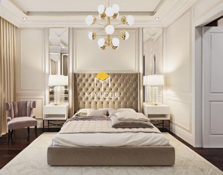 giường bọc nỉ cao cấp phong cách châu Âu
