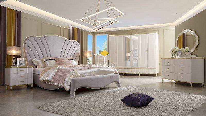 Nội thất phòng ngủ sang trọng tân cổ điển cho nữ