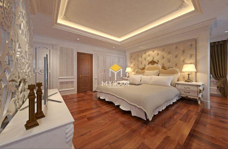 Thiết kế giường ngủ tân cổ điển sang trọng theo phong cách châu Âu