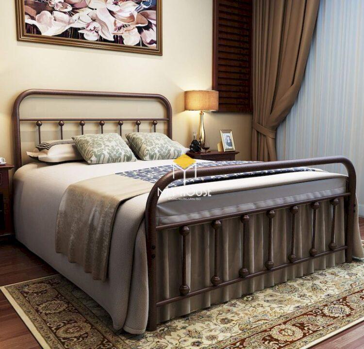 giường ngủ phong cách châu Âu bằng chất liệu sắc cổ điển