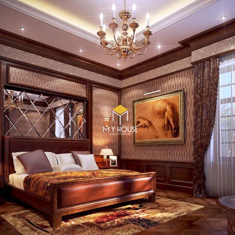 giường ngủ bọc da cổ điển