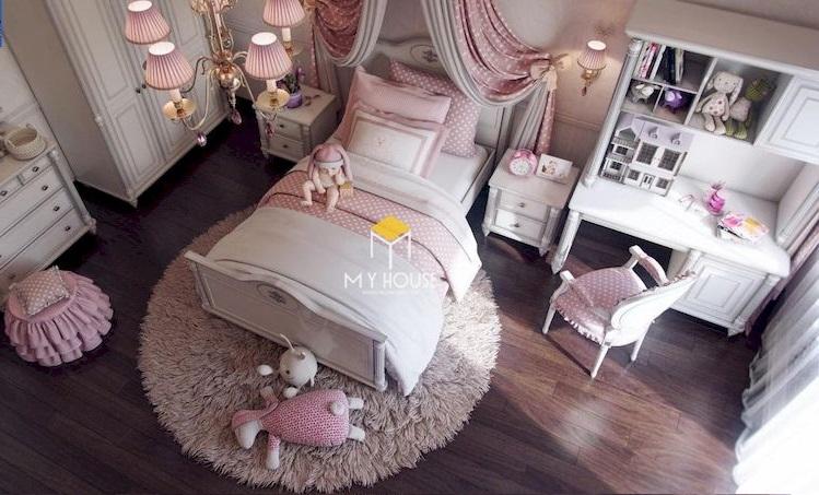Giường ngủ phong cách châu Âu gỗ công nghiệp