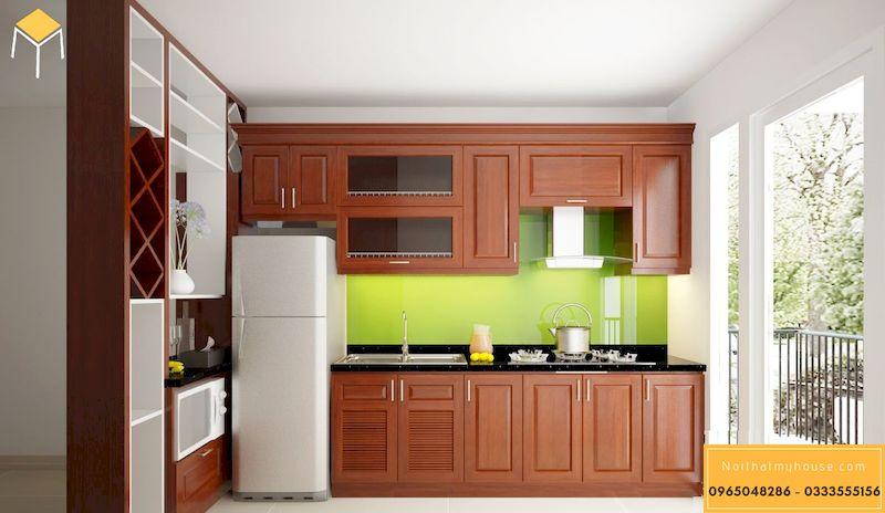 Nội thất tủ bếp gỗ xoan đào
