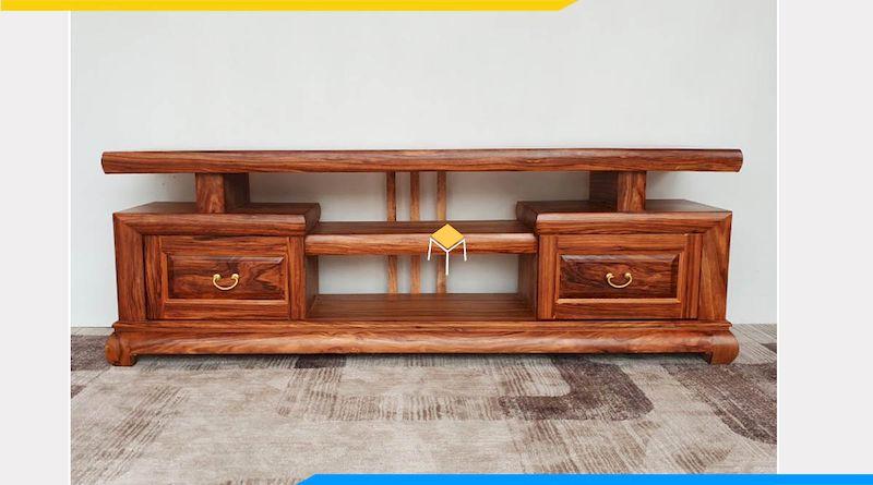 Kệ tivi gỗ nguyên khối là gì?