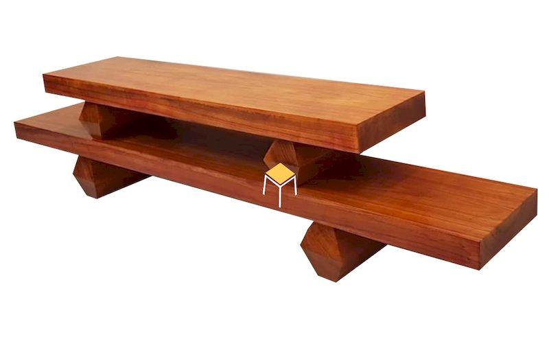 Kích thước của Kệ tivi gỗ nguyên khối là bao nhiêu