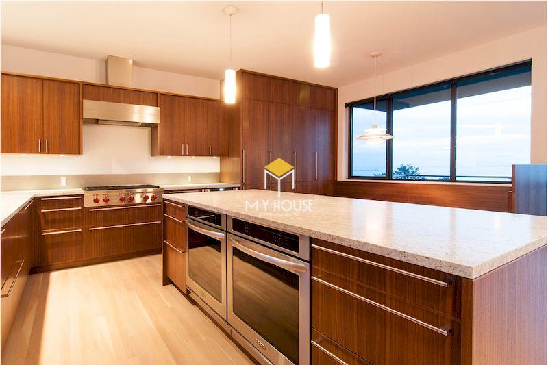 Tủ bếp laminate vân gỗ