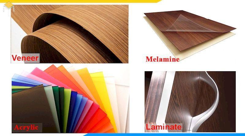 Các loại bề mặt gỗ công nghiệp thông dụng