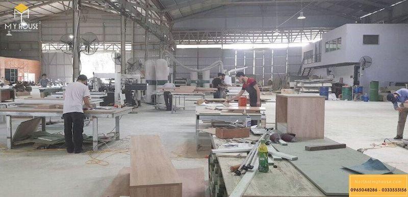 Quy trình sản xuất gỗ MDF phủ Veneer tại xưởng theo tiêu chuẩn