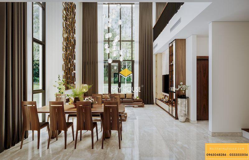 Nội thất gỗ tự nhiên cho phòng khách - chất liệu cao cấp