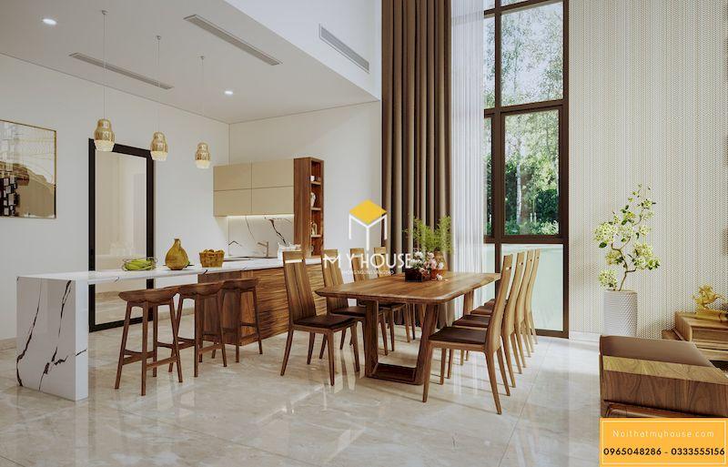 Nội thất gỗ tự nhiên cho phòng khách - sử dụng lâu bền