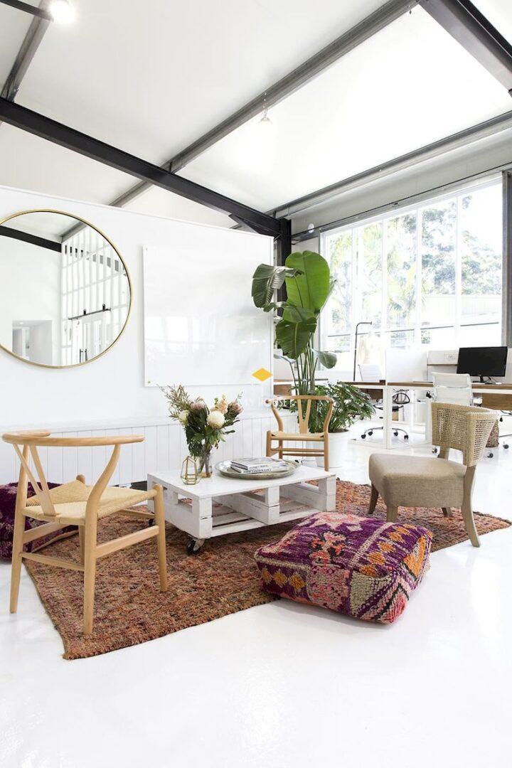 Phong cách nội thất bohemian hướng hiện đại, đơn giản