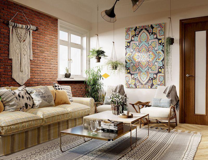 Phong cách nội thất bohemian với họa tiết của văn hóa Mexico