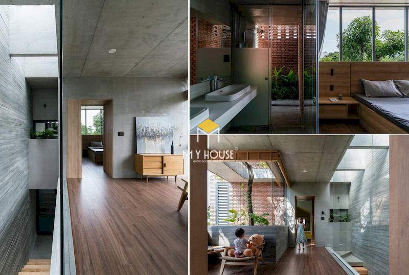 Thiết kế nội thất nhà ống phong cách thô mộc