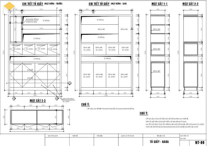 Bước 7: Bàn giao hồ sơ kĩ thuật thiết kế và thi công kiến trúc