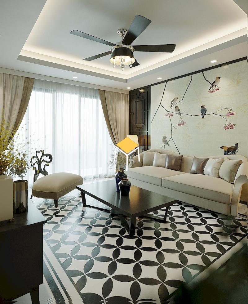 Mẫu sofa da phong cách Indochine
