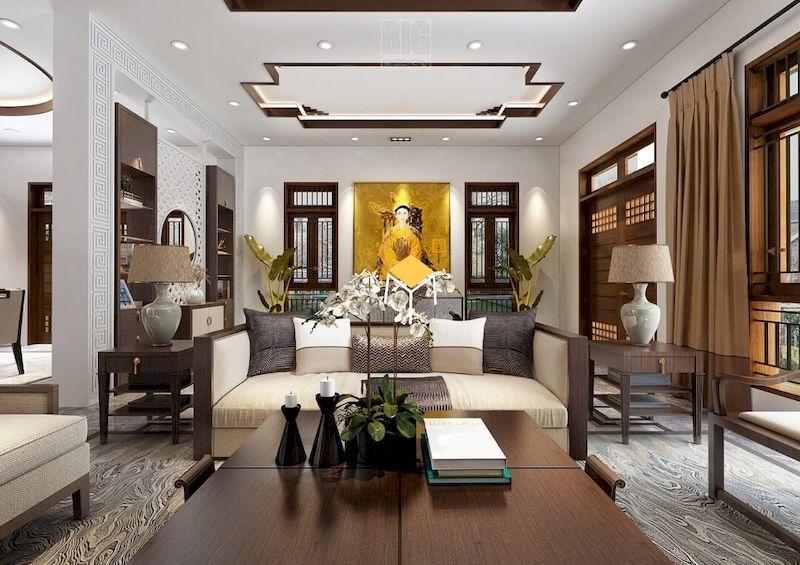 Sofa phong cách Indochine gỗ tự nhiên