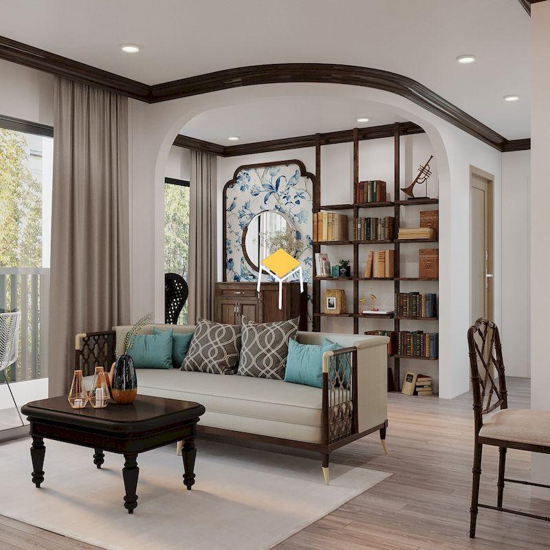 Sofa phòng khách chung cư Indochine