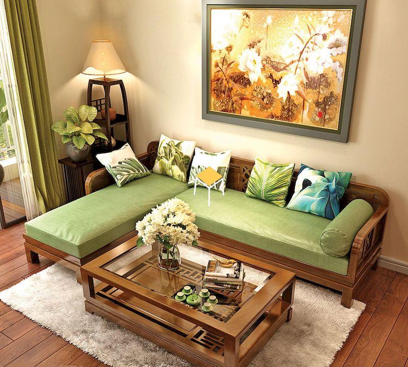Mẫu ghế sofa gỗ óc chó