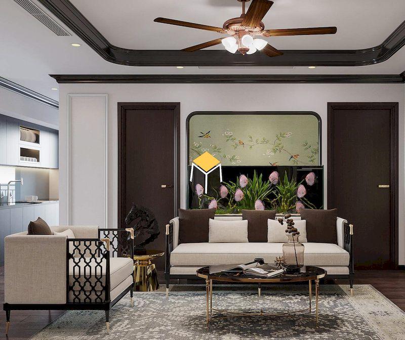 Sofa phòng khách chung cư Indochine đẹp