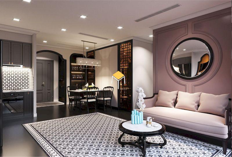 Nội thất phòng khách chung cư Indochine