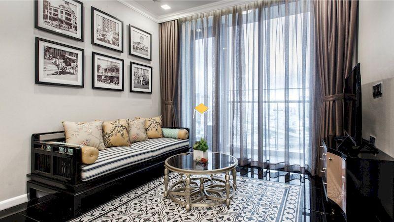 Sofa phong cách Indochine khung gỗ tự nhiên