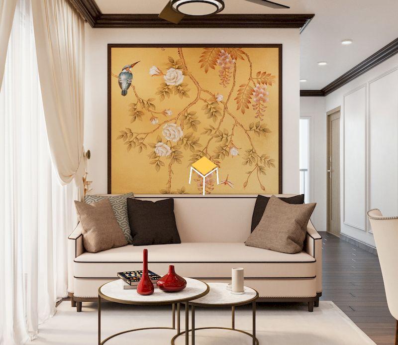 Sofa bọc da phong cách Indochine