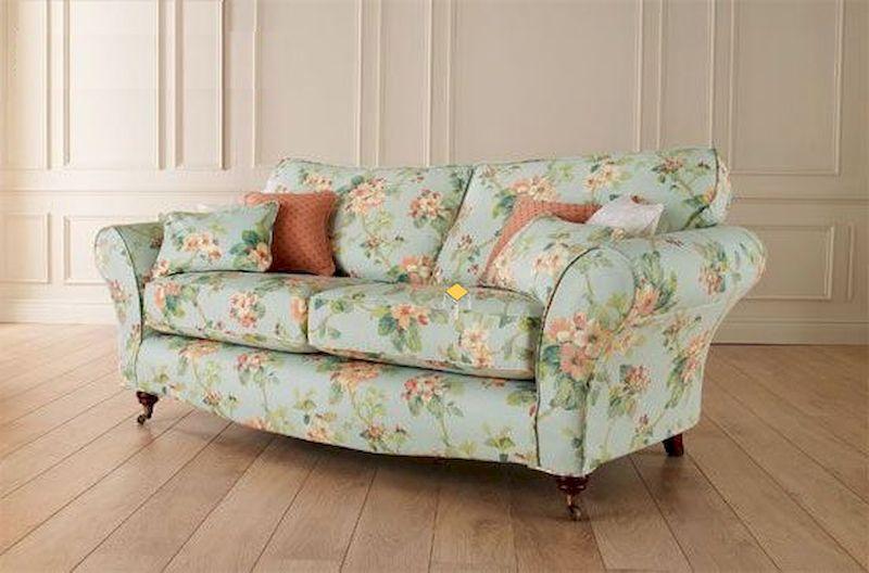 Ghế sofa vải hoa vintage