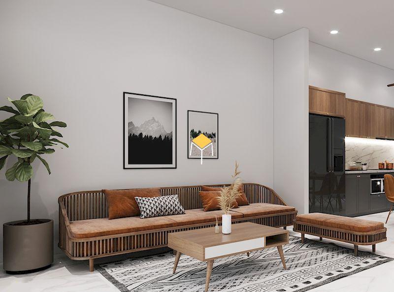 Kích thước sofa phong cách vintage phụ thuộc nhu cầu sử dụng