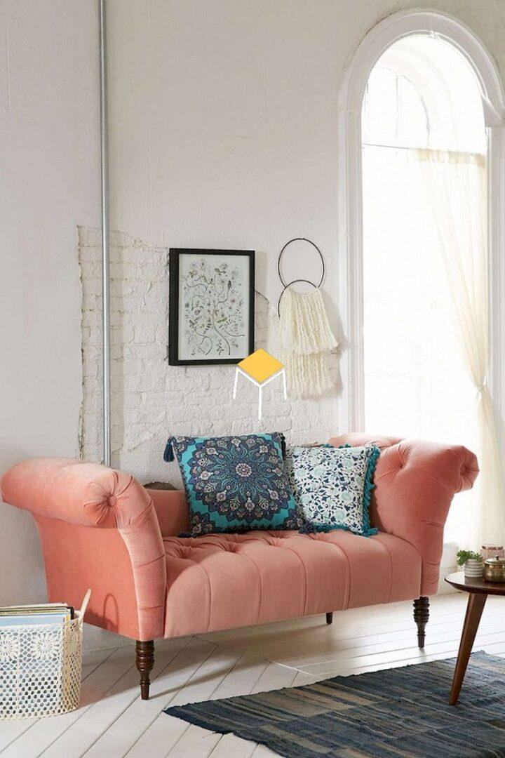 mẫu ghế sofa kiểu dáng cổ điển kết hợp màu sắc hiện đại