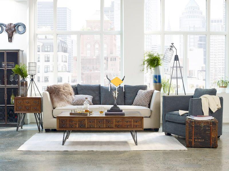 Bàn ghế sofa phong cách retro