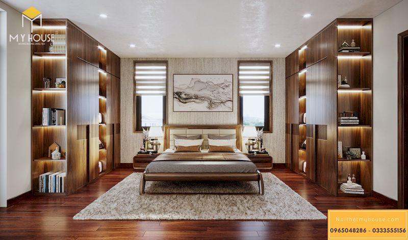 Thiết kế nội thất biệt thự Dương Nội Nam Cường - Nội thất gỗ óc chó