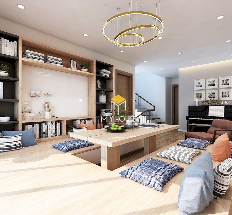 Thiết kế nội thất biệt thự liền kề Eden Rose - Tủ sách phòng đọc