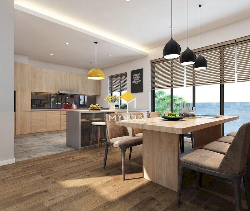 Thiết kế nội thất biệt thự liền kề Eden Rose - Phòng bếp ấm ám và tiện nghi
