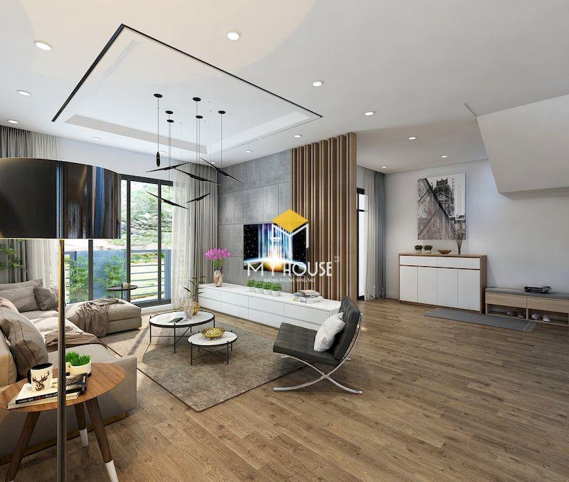Thiết kế nội thất biệt thự liền kề Eden Rose - phong cách hiện đại, màu sắc trung tính