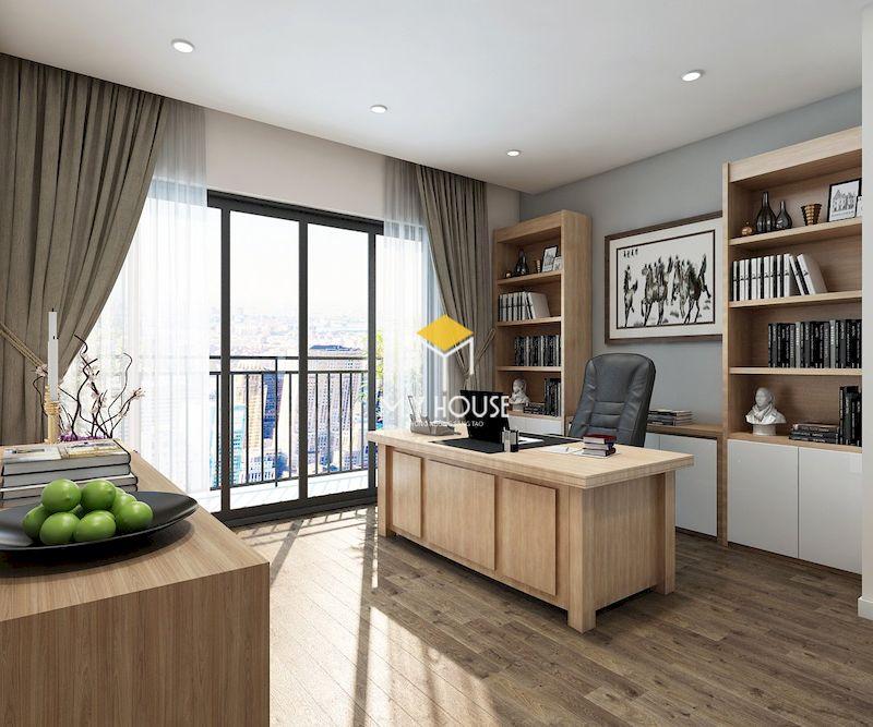 Thiết kế nội thất biệt thự liền kề Eden Rose - phòng làm việc tách biệt