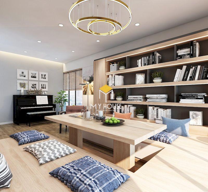 Thiết kế nội thất biệt thự liền kề Eden Rose - Chất liệu gỗ sồi tự nhiên