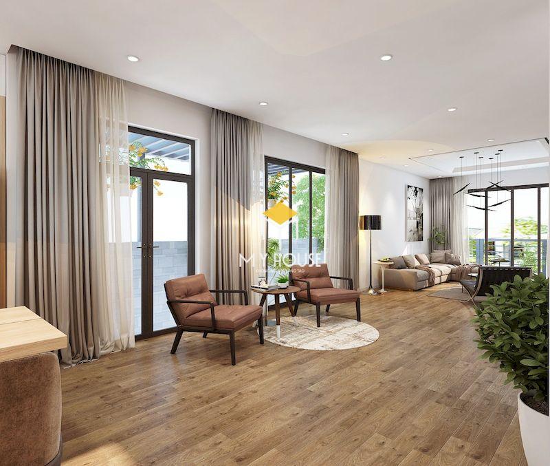 thiết kế nội thất biệt thự liền kề Eden Rose - phòng khách tràn ngập ánh sáng tự nhiên