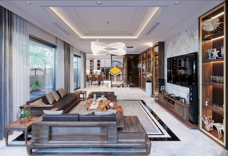Thiết kế nội thất biệt thự liền kề The Mansions Park City phong cách hiện đại