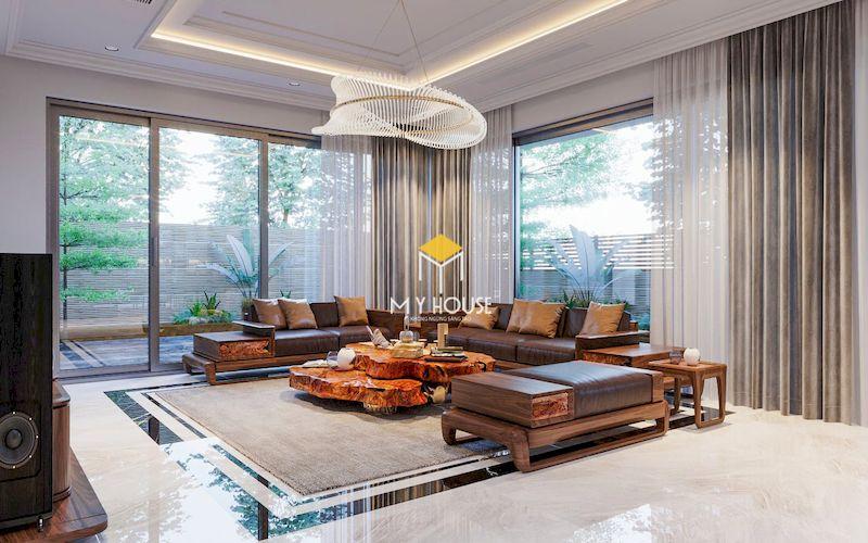 Thiết kế nội thất biệt thự liền kề The Mansions Park City - Bàn ghế sofa phòng khách