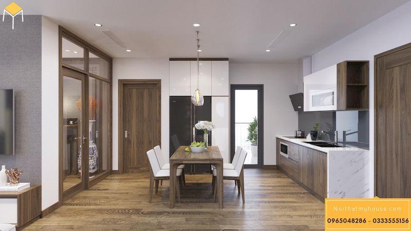 Thiết kế nội thất chung cư HDI 68A Võ Chí Công 2 ngủ 70m2 - phòng bếp 1